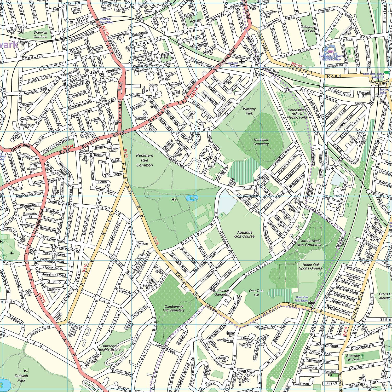 london xyz citymap london south east detail 3