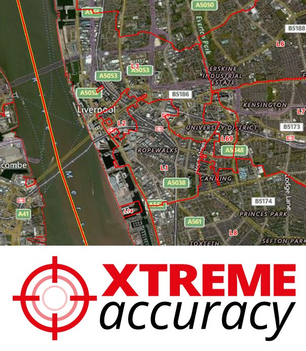 Xtreme Accuracy Postcode District Boundaries