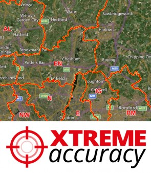Xtreme Accuracy Postcode Area Boundaries
