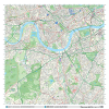 London XYZ CityMap - London South West Wall Map