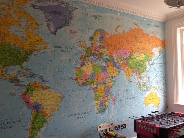 Custom World Wall Maps  XYZ Maps